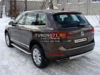 Пороги с площадкой 60,3 мм Volkswagen Touareg 2010